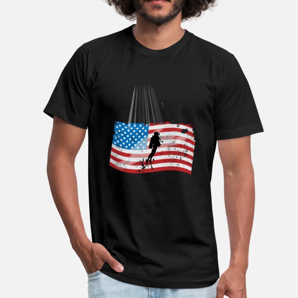 Scuba Diver подарки Scuba Diver Фридайвинг Tee тенниска мужчины Пользовательские хлопок S-XXXL тонкие Сумасшедшая Комфортное лето Trend рубашка
