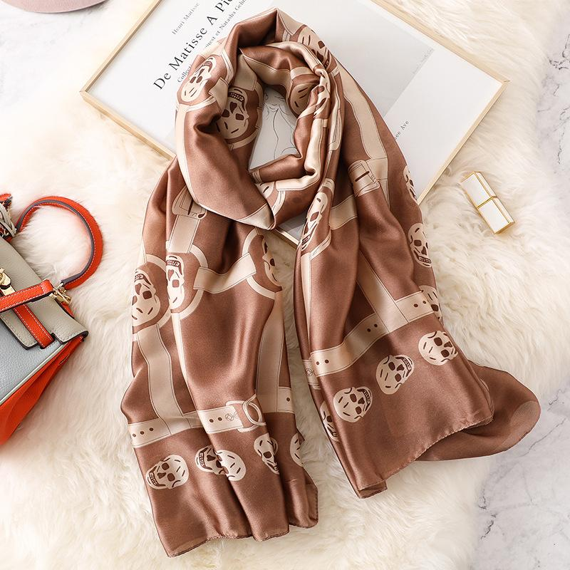 summer Women Silk scarf Beach Shawl fashion Wrap Designer printed scarves female bandana soft pashimina