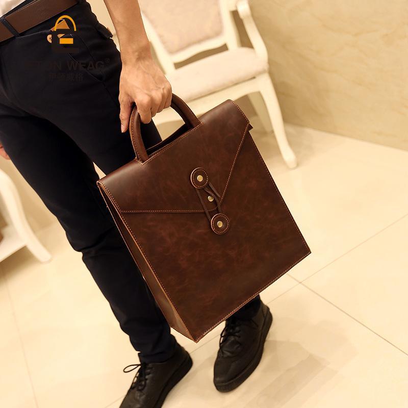 Nouveau gros Fashion Business Casual Hommes Sac coréenne Hommes Sac épaule Sac à dos cool Filles
