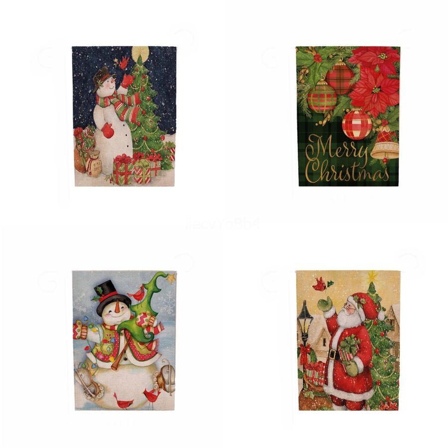 Bandera de papel de las decoraciones de la bandera de secuencia de la Navidad Conjunto 8Flag cadena de Santa Claus triángulo de la bandera de Navidad ornamentos # 642