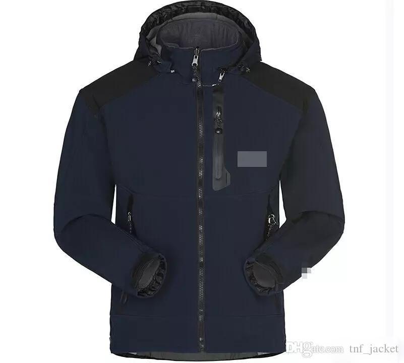 Hot vendre 2019 Designer North Face Hommes Manteau d'hiver Casual Couleur unie Veste coupe-vent Athletic capuche Manteau chaud Taille asiatique Livraison gratuite