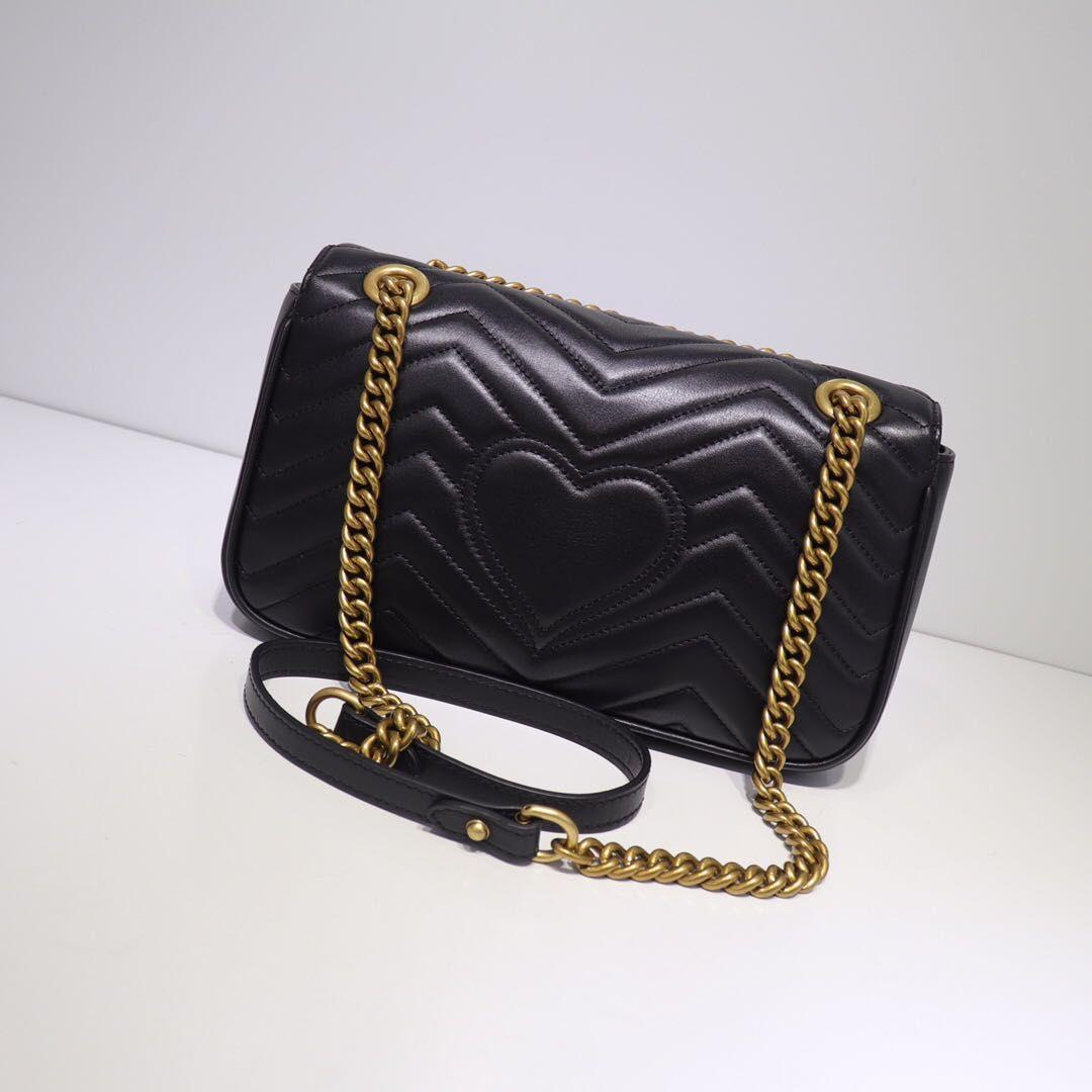2020 caldo di vendita del sacchetto di spalla delle donne di cuoio genuini delle donne di modo sacchetti per gli uomini e le borse da sera classico del sacchetto di spalla di piccola dimensione Donne Classic
