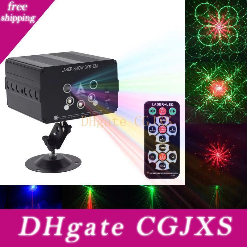 Dj Disco Light 5 Fascio 48 del modello RGB proiettore laser ha condotto la luce della fase Voice attivati per la festa di Halloween di Natale barra di cerimonia nuziale delle decorazioni