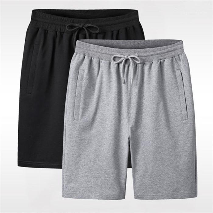 İpli Cep Giyim Erkek Katı Renk Tasarımcı Şort Yaz Erkekler Diz Boyu Plaj Kısa Adam Spor