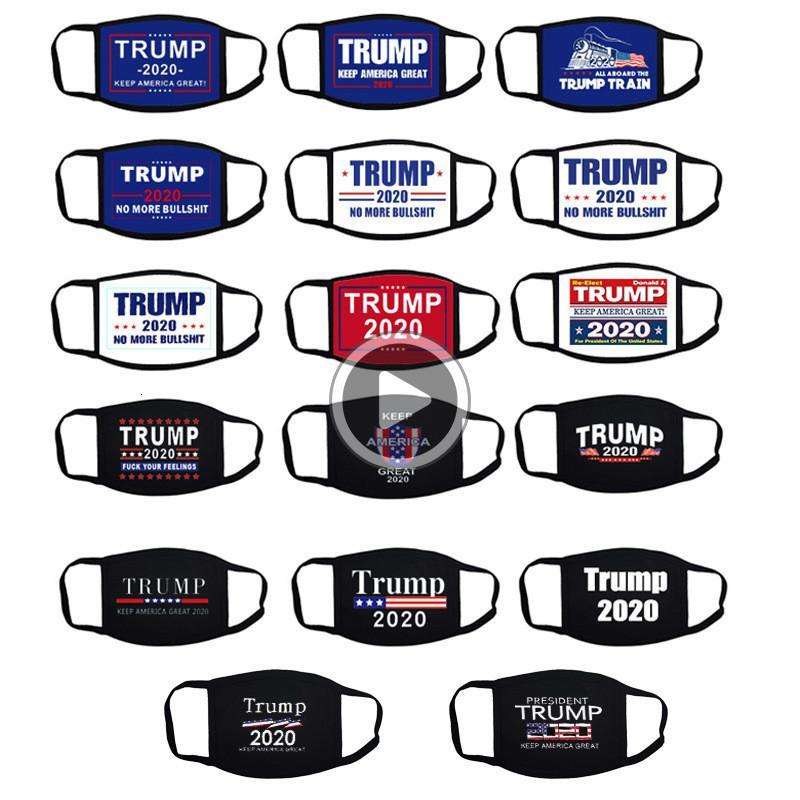 Élection Trump Mask Cotton Keep America Great Encore une fois cosplay iden Parti Fa Masques anti-poussière pollution Mout er Connie