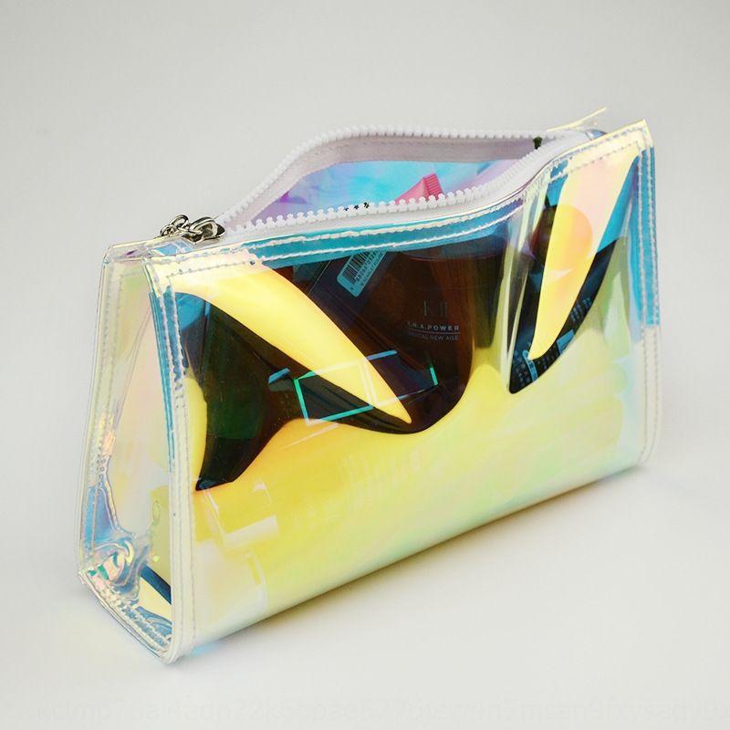 TPU laser transparent sac à cosmétiques bagHandbag cosmétiques bagtrendy fraîche magique carré de couleur wg8SH imperméable sac à main