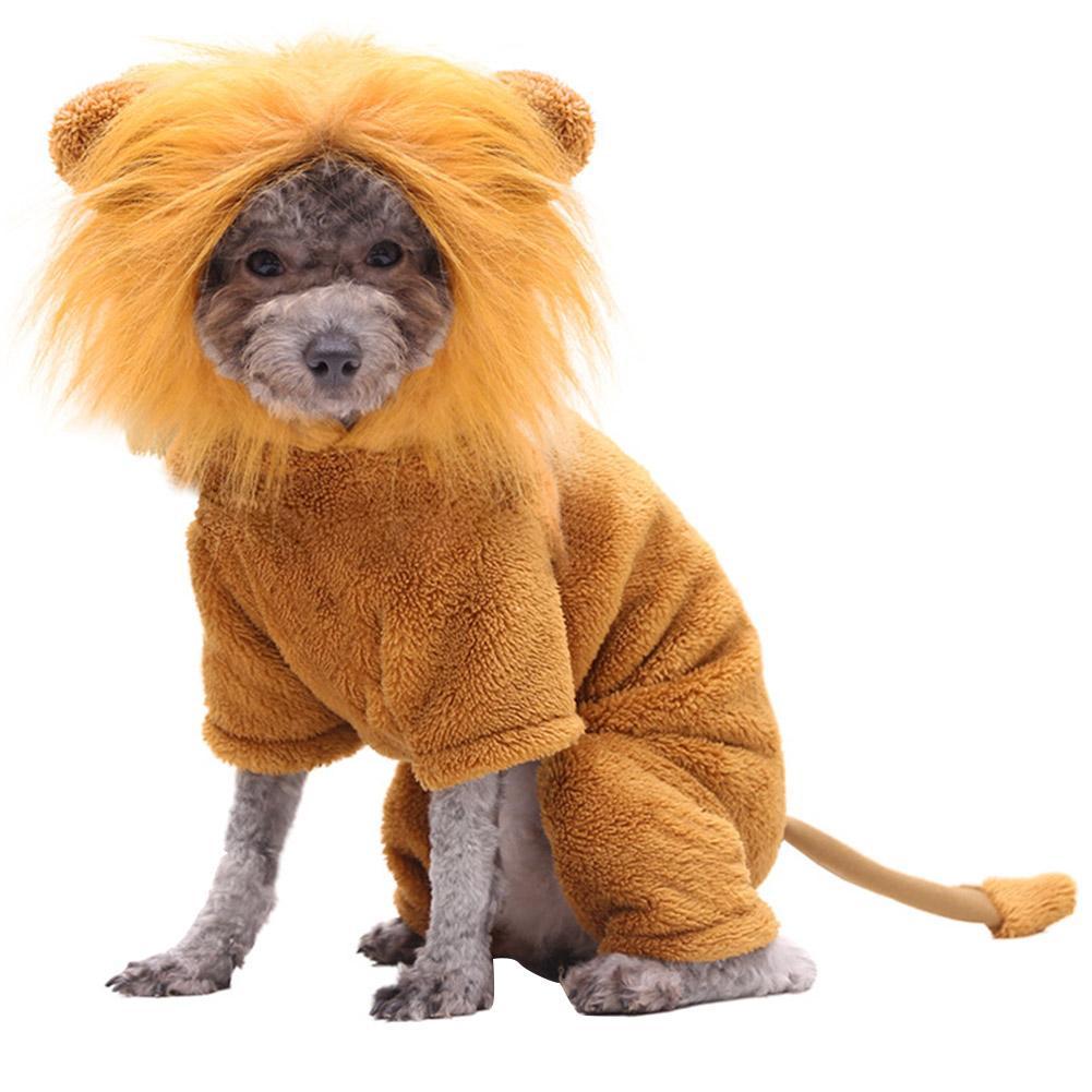Dress Up Herbst-Winter-Hundekostüm Hoodie Perücke Kleidung Partei-Dekoration Pet Weiche