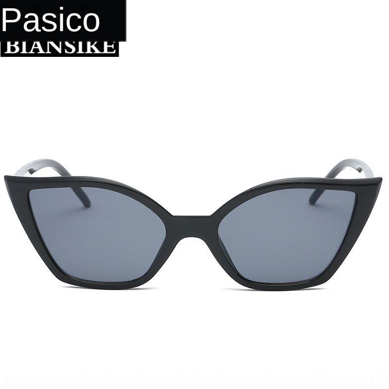 KowAf nouveau soleil du soleil des yeux de chat mode petit cadre lunettes de soleil lunettes de soleil oeil de chat décoration personnalisée