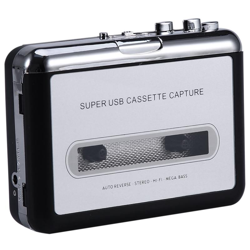 12V USB Cassette Player Tape to PC MP3 CD Switcher Converter Capture o Music Player with Headphones