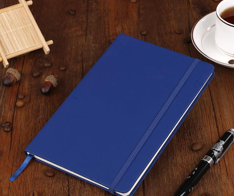 Clásica A5 Bloc de notas Notebook encaje Colegio Hardcover Diseño PU gobernado con el caucho Cierre baned Estudio Ministerio del Interior