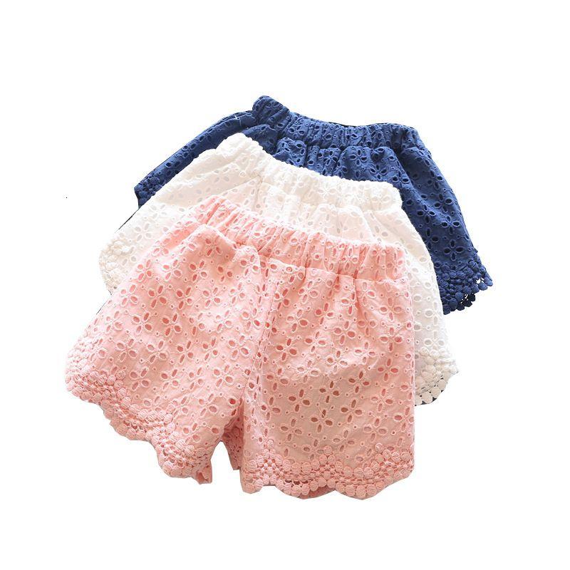 2020 السراويل الصيف الأميرة بنات السراويل للأطفال لطيف الحلو التطريز الجوف خارج الرباط الزهور السراويل طفل ملابس الاطفال