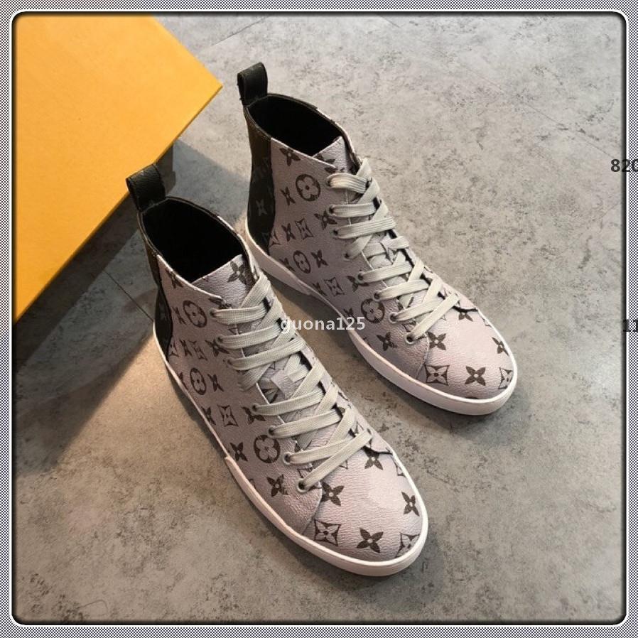 710 luxeconcepteur g1 mode haut dentelle casual en cuir de luxe des hommes en chaussures pour hommes designer plat boîte à chaussures d'origine de SI