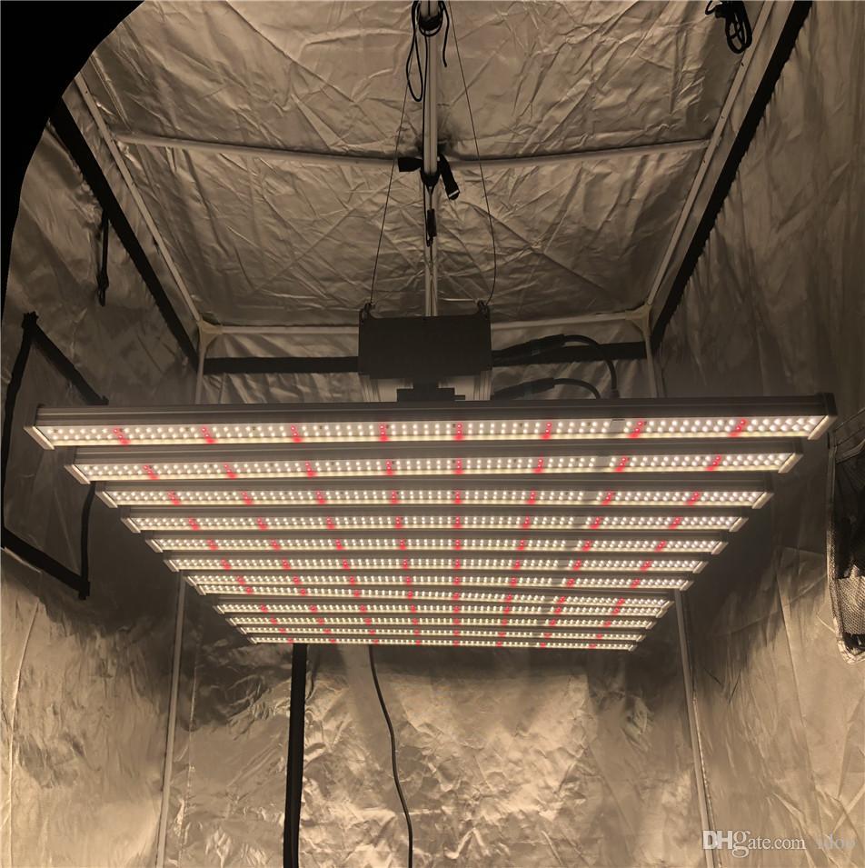 TOP New dimmer 640W 8Bars espectro completo lâmpada LED placas Samsung espectro completo levou 660nm cresce a luz LED para plantas de interior