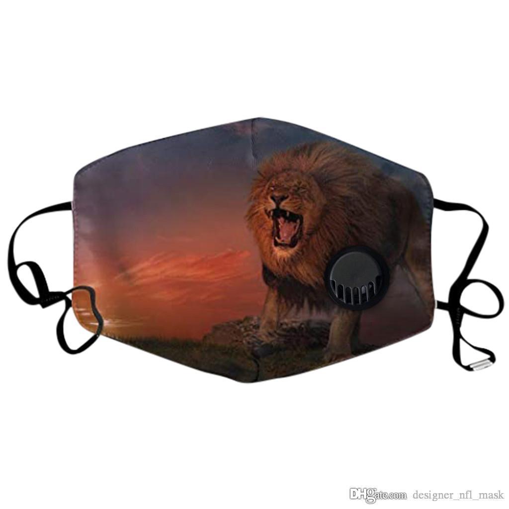Commerce extérieur chaud vente Nouveau masque 3D numérique Dersigner masque d'impression Lavable antipoussière adulte peut-il mettre PM2,5 élément filtrant