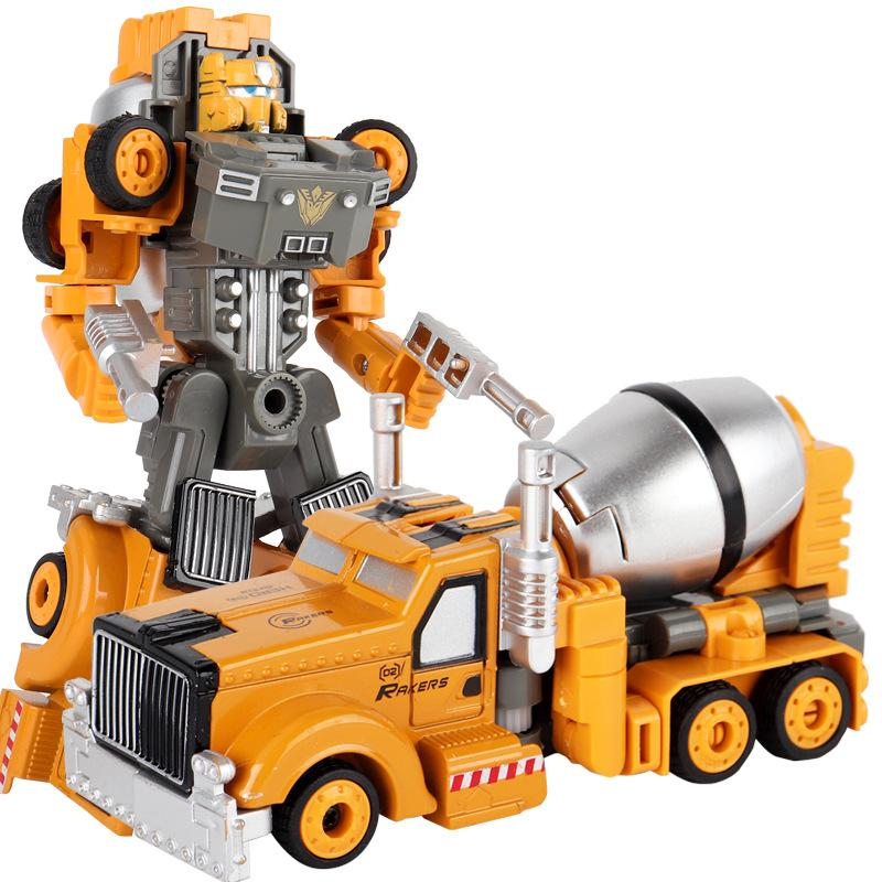 Children toy Alloy Deformation Robot Alloy Engineering car Model Transformation toys ABS material 6 styles Kid Gift