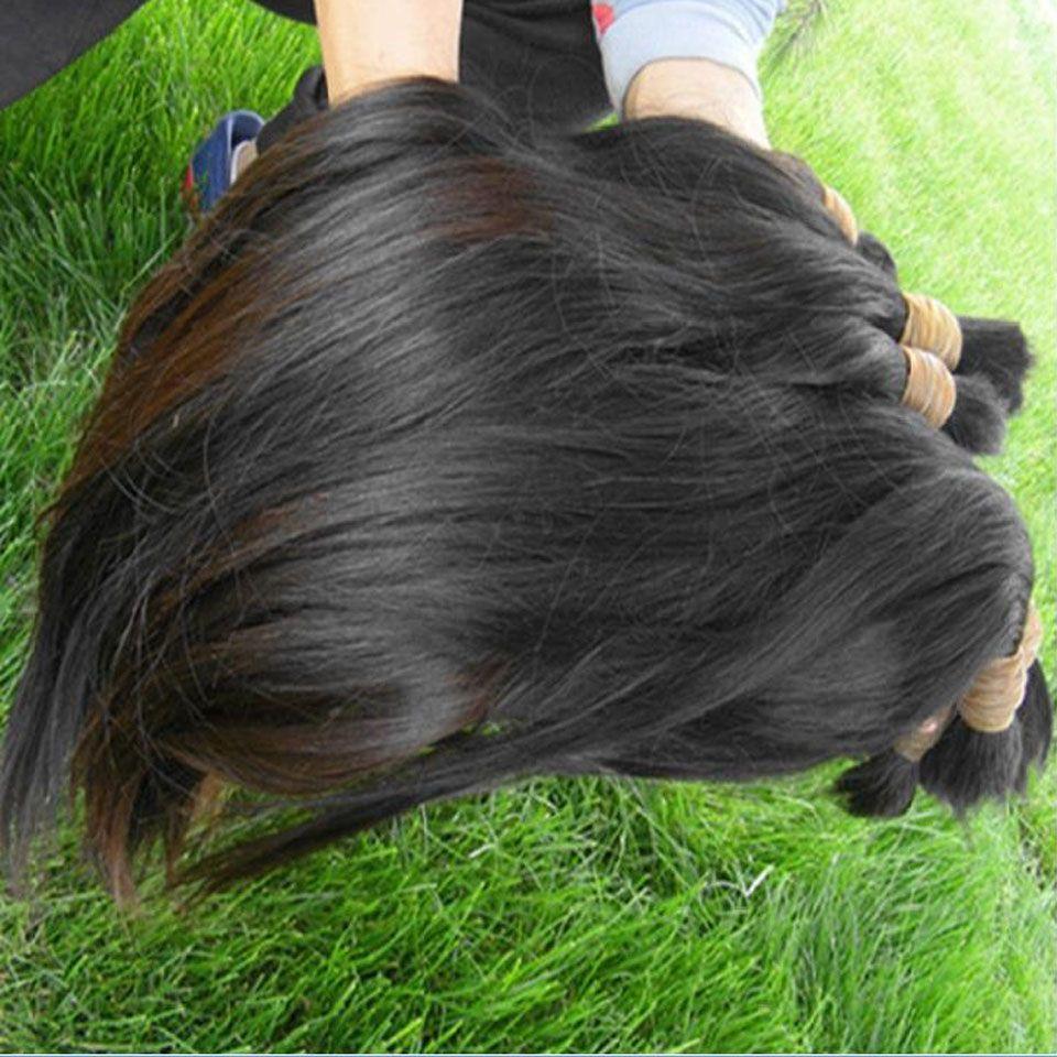 Best Best Human Human Bulk para beleza cabeleireiro cor natural pode lixívia cutícula de cor dinícula alinhada cabelo de um doador 100g / pacote