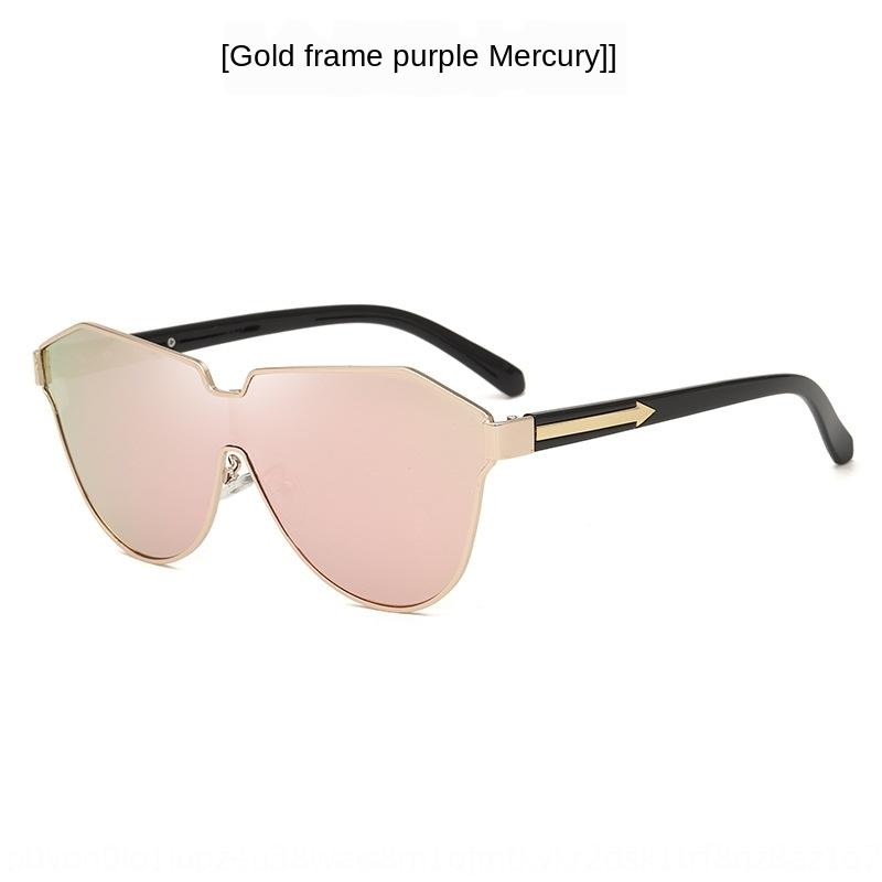 L'oreo 709 sombrilla deslumbrante de color de una sola pieza gafas de sol UV a prueba de flecha vidrios de sol nvoS5