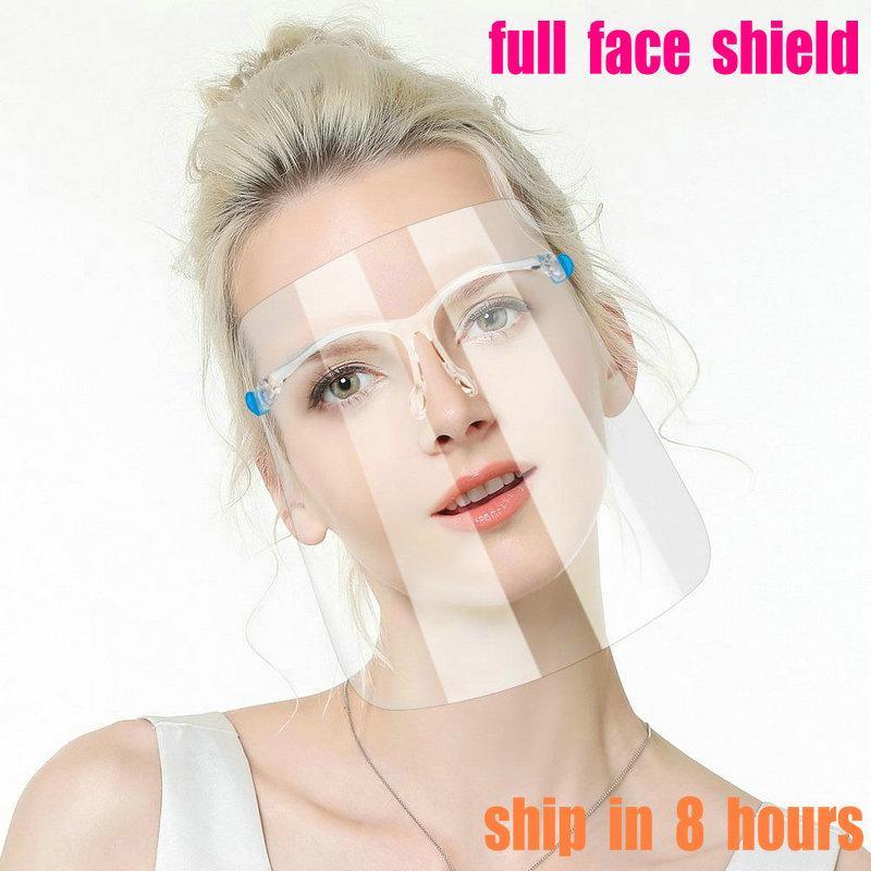 500PCS 풀 페이스 쉴드 보호 마스크 HD 투명 얼굴 커버 성인 풀 페이스 오일 얼룩 얼룩 방지 안티 침 보호