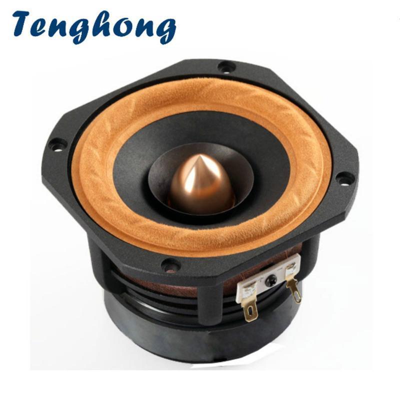Tenghong 1pcs Frame 4 Inch Speaker Bookshelf Áudio 4Ohm 8Ohm 30W HIFI Treble Mediant Baixo Altifalante desktop Speaker alumínio