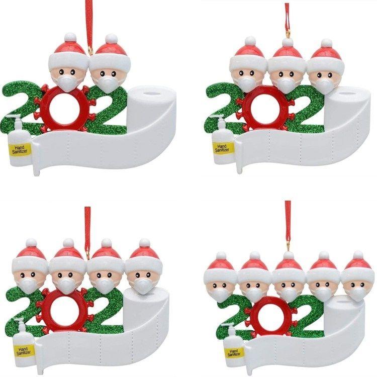 4style моды рождественские украшения Снеговик Семья Моя первая Рождественская елка кулон украшение партии 80PCS T500272
