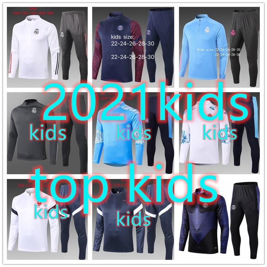 20 21 kids chandal barcelona real madrid psg jordan nike adidas france kid 2020 2021 chandal futbol chándal de fútbol soccer tracksuit football training suit