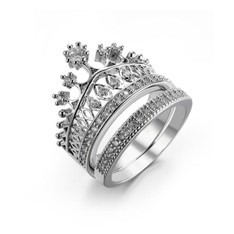 Corona circón joyería accesorios anillo de la Mujer