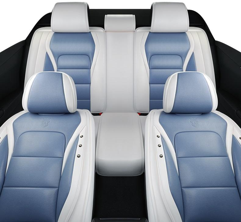 Universal Fit Car Accessories Interior Car Seat Covers Full Set For Sedan PU Leather Adjuatable Seats Covers For SUV 5 Pieces Seat Cushion