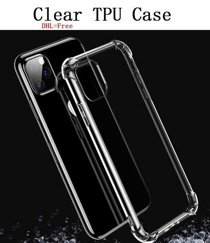 TPU Clear противоударный телефон чехол для iPhone 12 Pro Max TPU Подушка 11 XR XS 8/7/6 Plus Protect Доспех