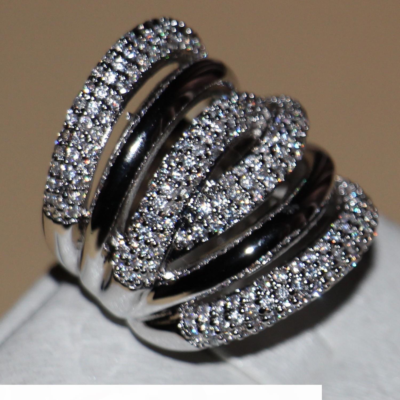 Victoria Wieck completa piccolo gioielli di moda per donne Stones 14kt oro bianco riempito regalo anelli a fascia di Zirconia aggancio di cerimonia nuziale Lady