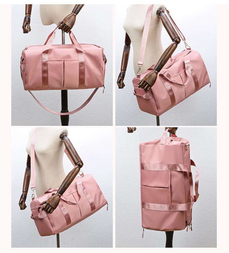 Multifuncional Nylon Segredo de armazenamento grande saco Duffel Bags Unisex Travel Bag Waterproof Casual Praia Exercício sacos de bagagem 7 cores com marcas