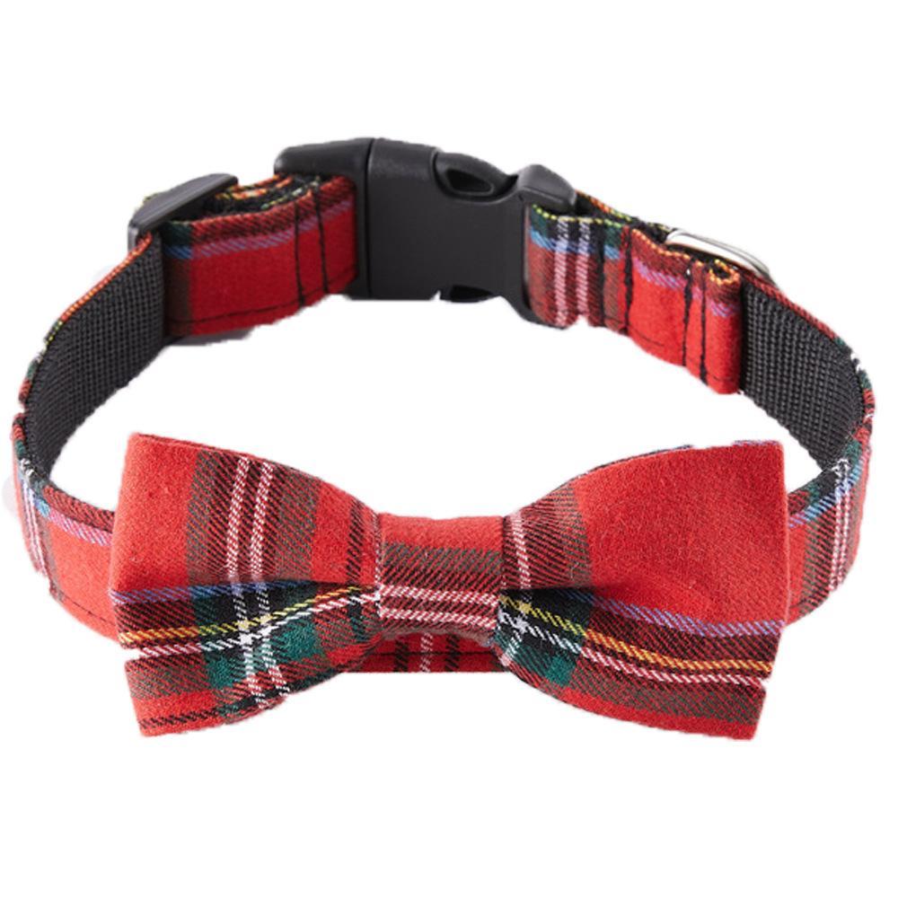 O novo comércio exterior Curva do Natal do animal de estimação de cão colar acessórios pet fornecimentos laço colar de cão de moda