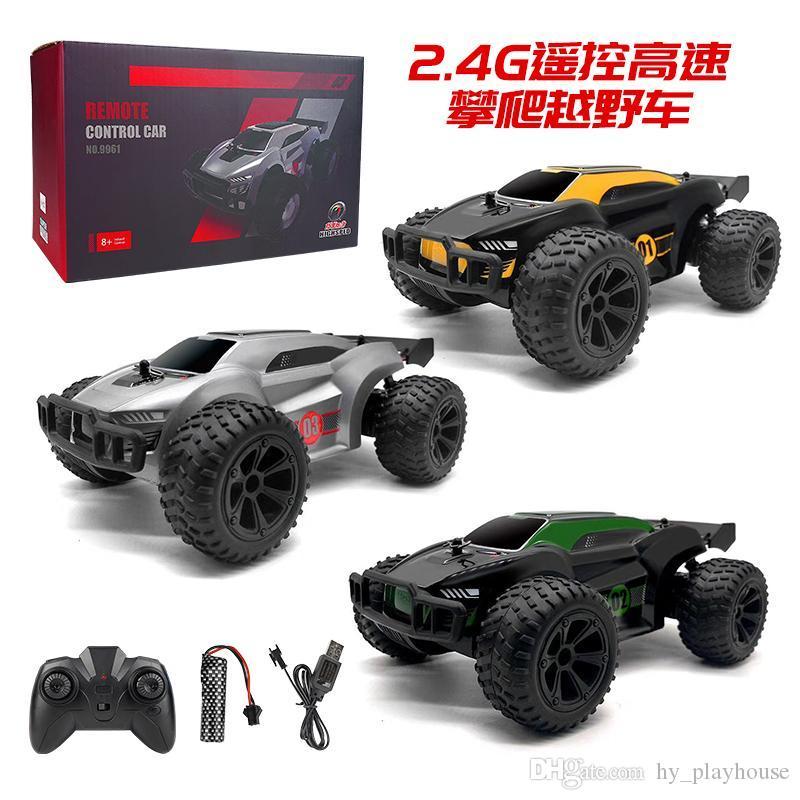 RC 15 m / h High-Speed-Auto 2.4G Fernbedienung Fahrzeug Klettern Drift Cars Racing Off Road Elektro-Spielzeug Jungen-Kind-Geschenk