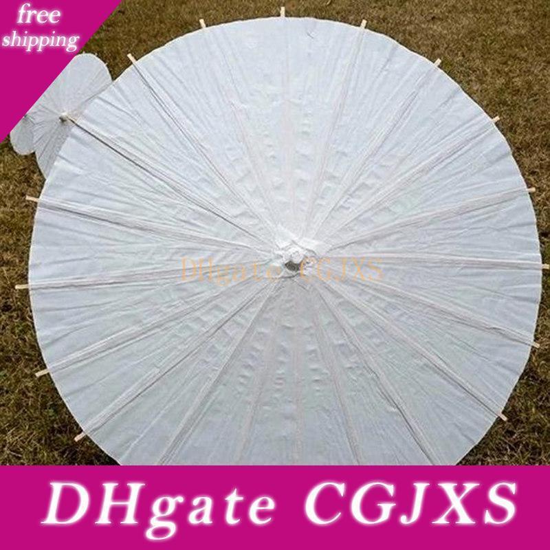 Bridal Wedding Parasols White Mini Paper Umbrellas Chinese Mini Craft Umbrella 4 Diameter :20 ,30 ,40 ,60cm Wedding Decoration
