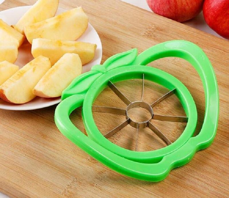 Grande corte de maçã multifunções com aço inoxidável alça cored fruta slicer Cozinha corte aparelhos de cozinha ferramenta