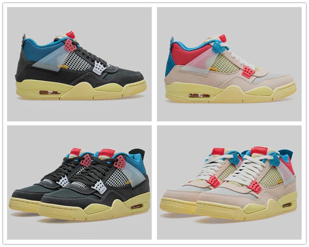 2020 Yeni With Box Mens 4s Birliği LA Basketbol Ayakkabı 4 Spor Dış Mekan Spor Ayakkabıları Moda Sneakers