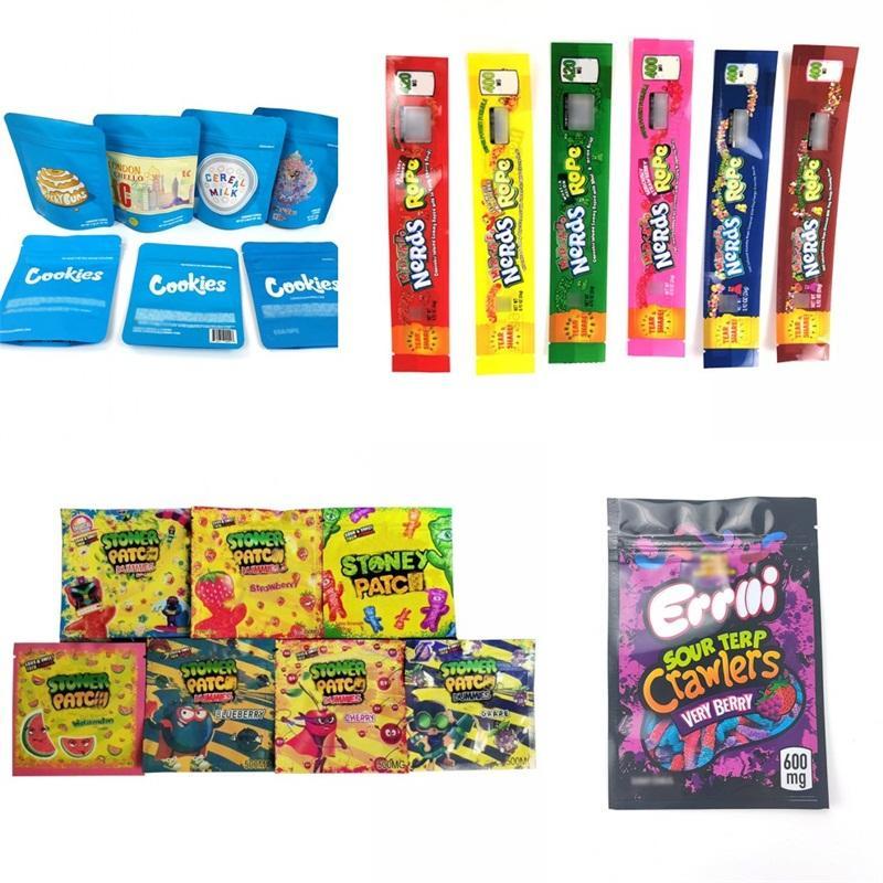 Prueba oler bolsa de embalaje portátil Galletas Mylar bolsa de los bolsos Berry Pie Jefe de la cremallera de almacenamiento Ediobles caramelo resellable Moda B2