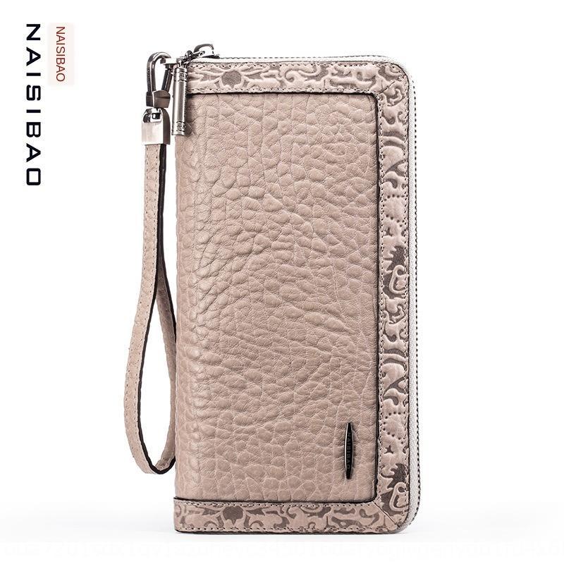 Sac en cuir style long cuir capacité multi-cartes téléphone mobile porte-monnaie femmes chinoises Gs4fF zipper multi-fonctionnelle large portefeuille mobile 5DfAA