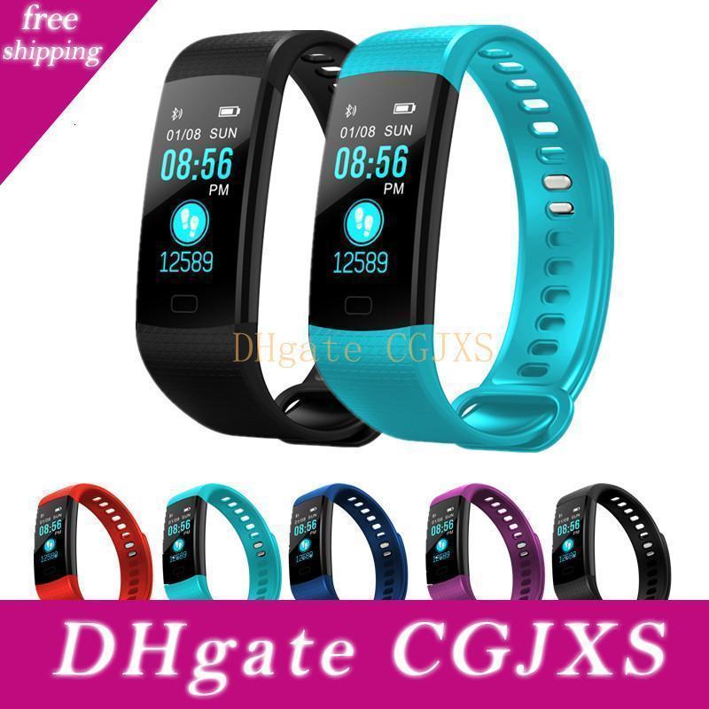 Y5 Smart-Armband-Armband Fitness Tracker-Farben-Schirm Herzfrequenz Schlaf Pedometer Sport-wasserdichte Activity Tracker für Iphone Samsung
