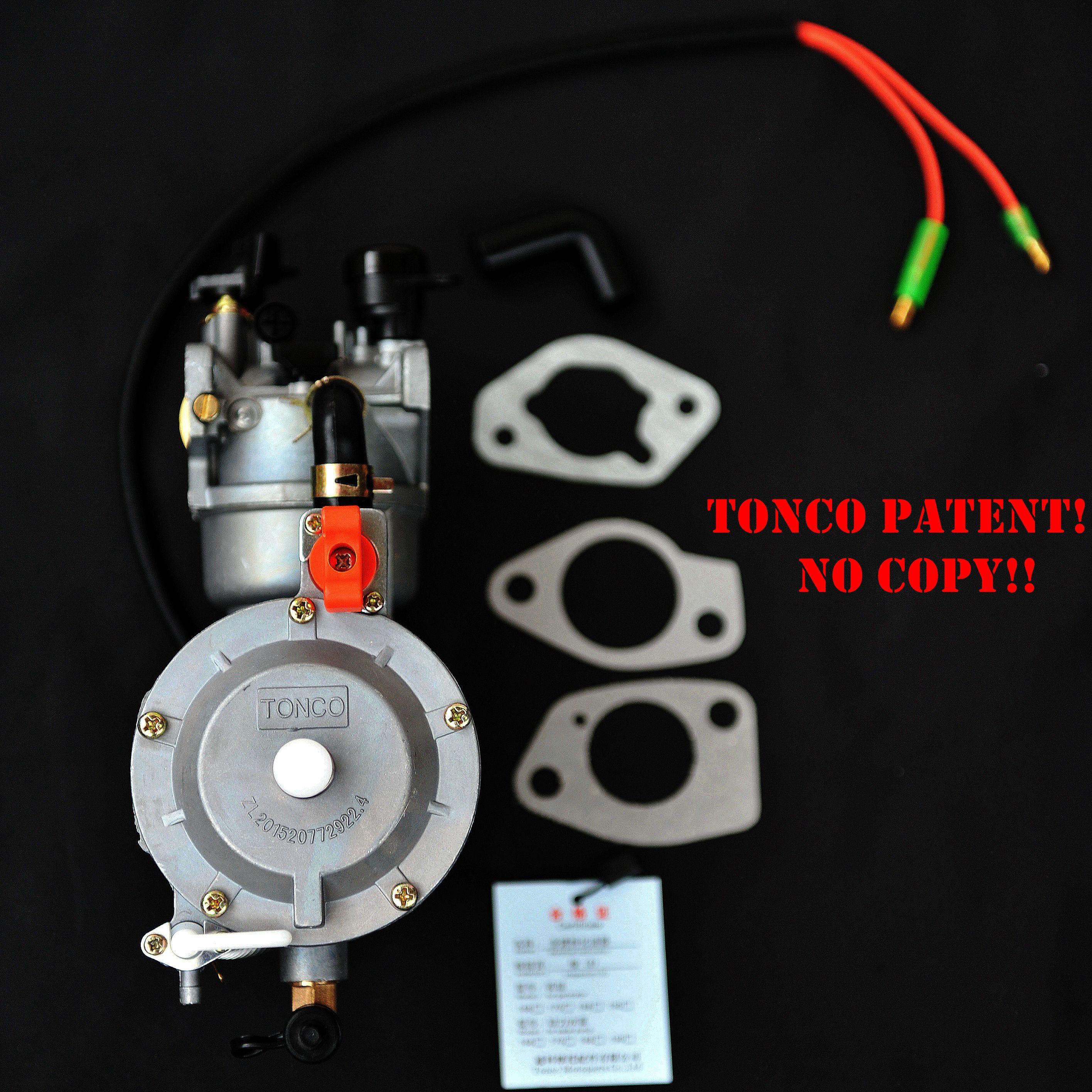 двойное топливо карбюратора с автоматическим дросселем LPG NG конверсионный комплект пропана для бензина generetor гибридного 6KW 6000W 190F