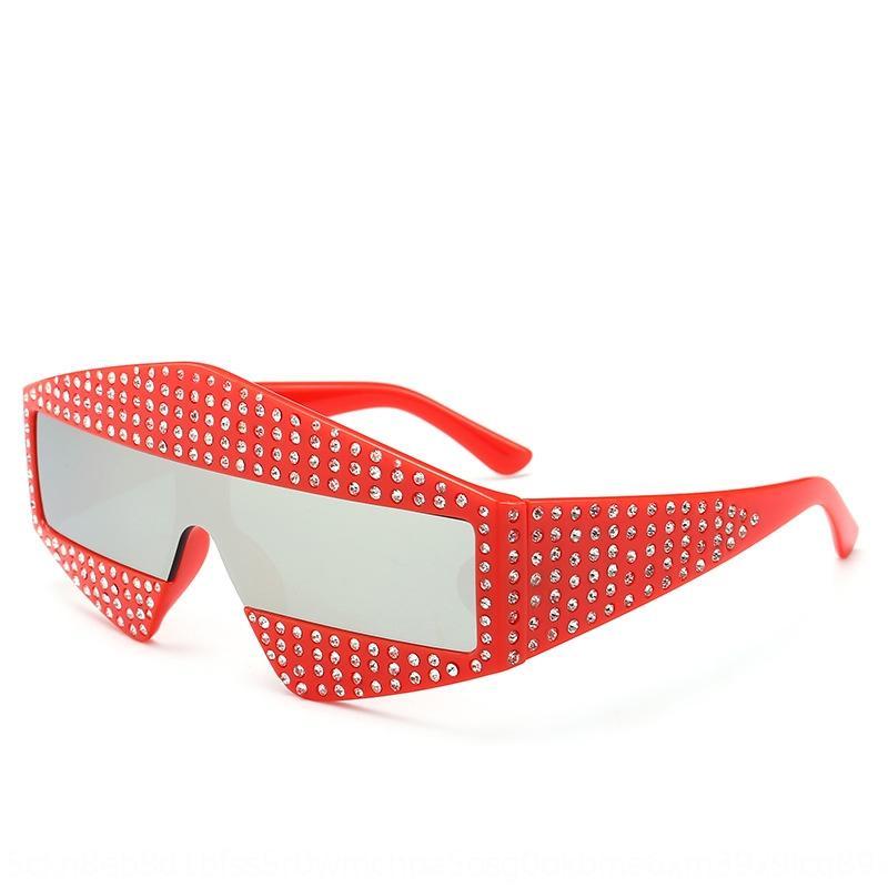 wVBam Nouveau personnalisé soleil incrustée de diamants Sun Li Yuchun lunettes de soleil même style grand cadre lunettes couvrant le visage de haute qualité