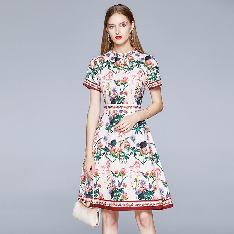 Petite robe RKbCP LINE- 2020 nouveau tempérament de taille d'été socialite A- A A- Jupe jupe imprimée féminine