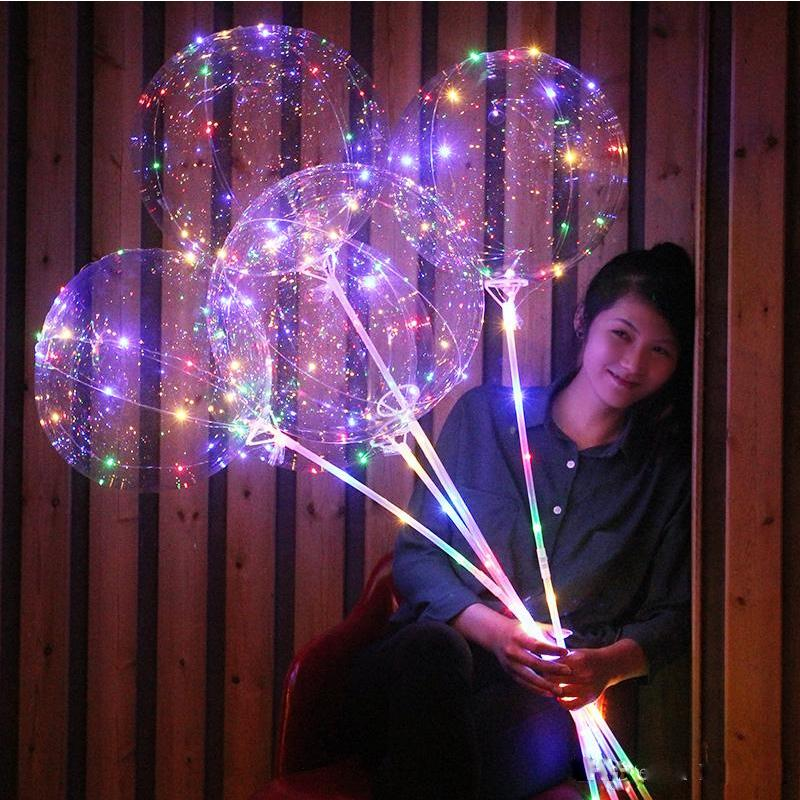 Globo bobo 20 pulgadas globo de luz LED con 3M tira llevada alambre luminosa decoración de iluminación grande para el partido regalo