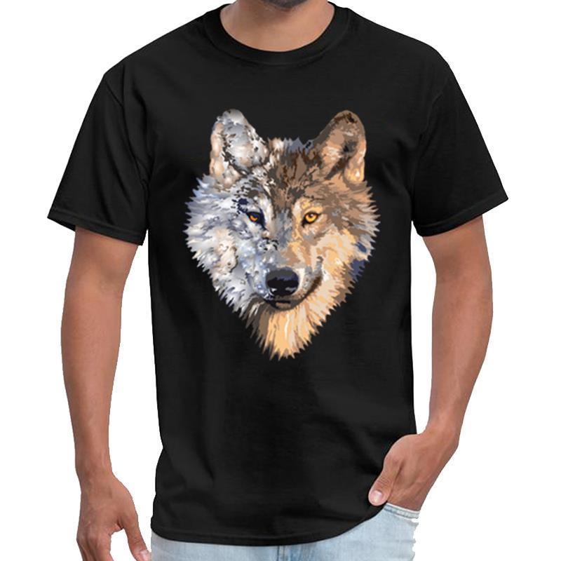 Печатный волк Ропа аниме футболка мужская Westfalia тенниску плюс размеры s-5XL HipHop вершины