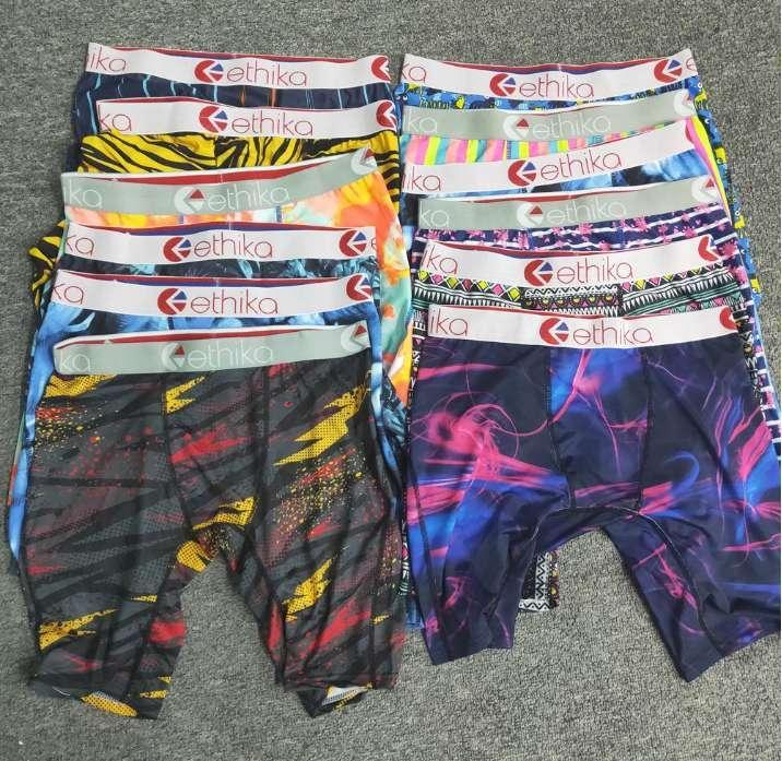 estilos ethika azar ethika envío al por mayor de la cadera los deportes de los hombres boxeadores de la ropa hop popular de rock moda de ropa interior de secado rápido bragas gratuito