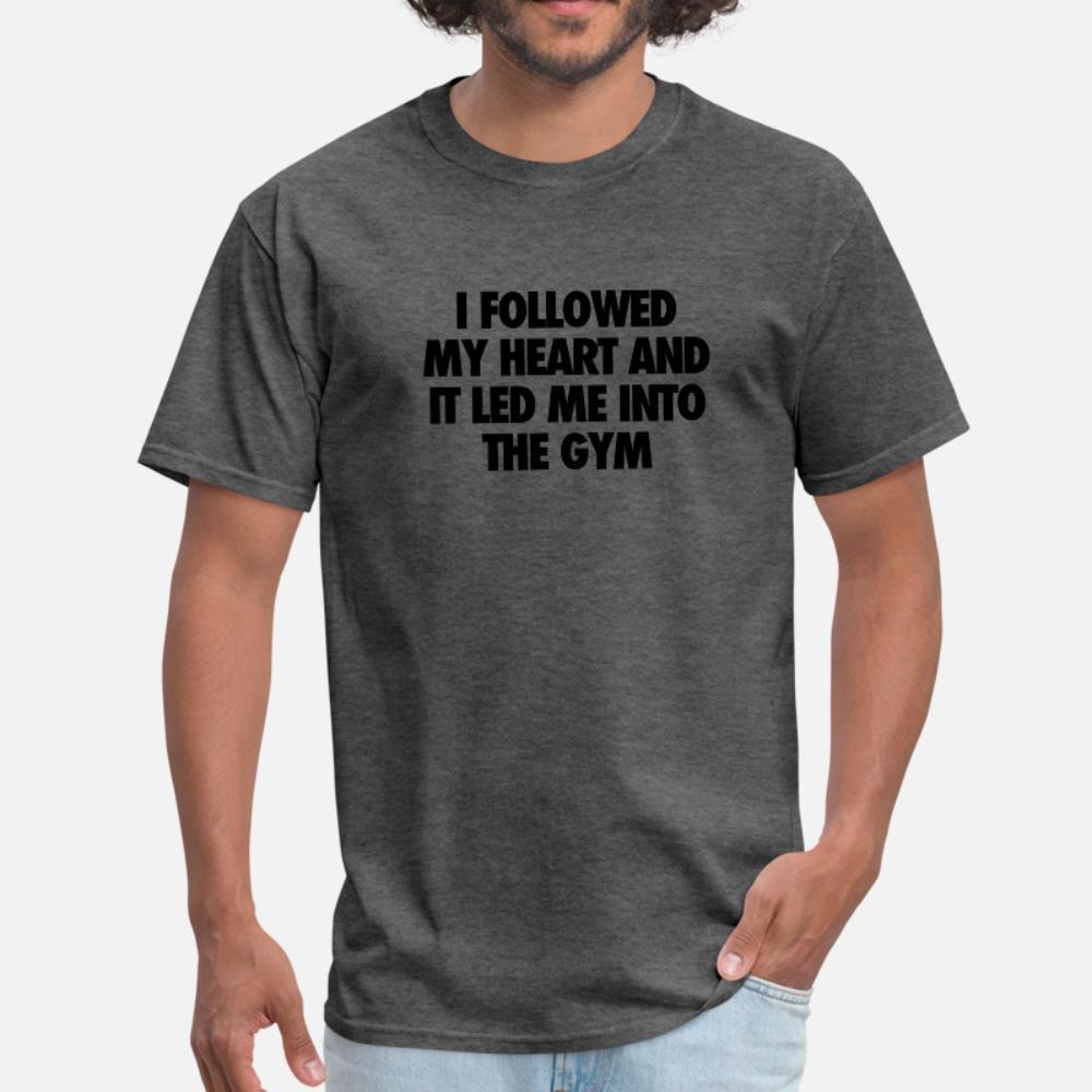 Led moi dans la chemise hommes Gym t Designs t-shirt S-3XL unisexe Anti-rides drôle d'été de style chemise de loisirs