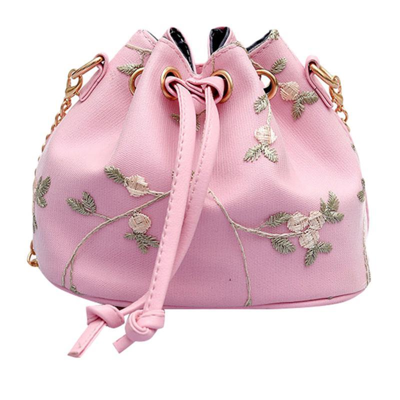 Taze Dantel Kadınlar Bayanlar Ocardian Yaz Çantaları Moda Messenger 2020 Deri Çanta Kova Işlemeli Çanta M18 Tuwlk