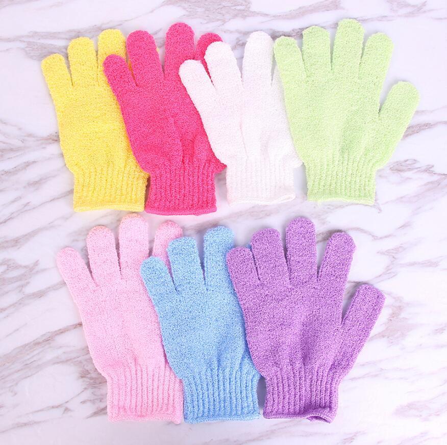 Douche Bain Gants Bonbons Couleur Exfoliant Wash Skin Spa Massage Gommage Scrubber Gant surface très texturées gants de bain doux