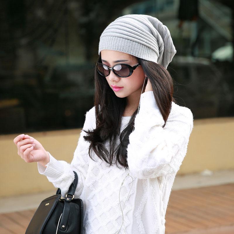 Mujeres sueltan el sombrero Pila del Knit del estilo de la respiración y cálido Otoño Invierno Beanie Colores cráneo de diseño de moda capsula al por mayor