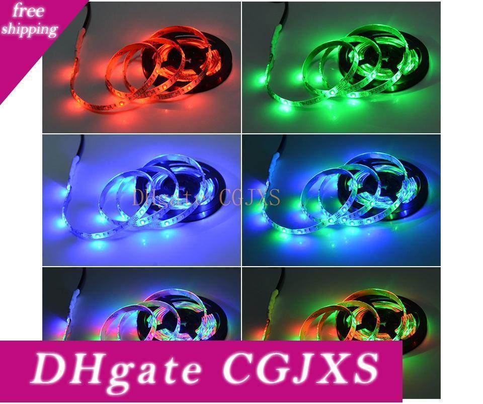 2835 smd Rgb USB-Ladegerät führte Streifen-Licht DC 5V USB-Kabel LED-Licht-Lampe flexibles Klebeband 1m 2m 3m 4m 5m Rf Ir Rgb Fernbedienung
