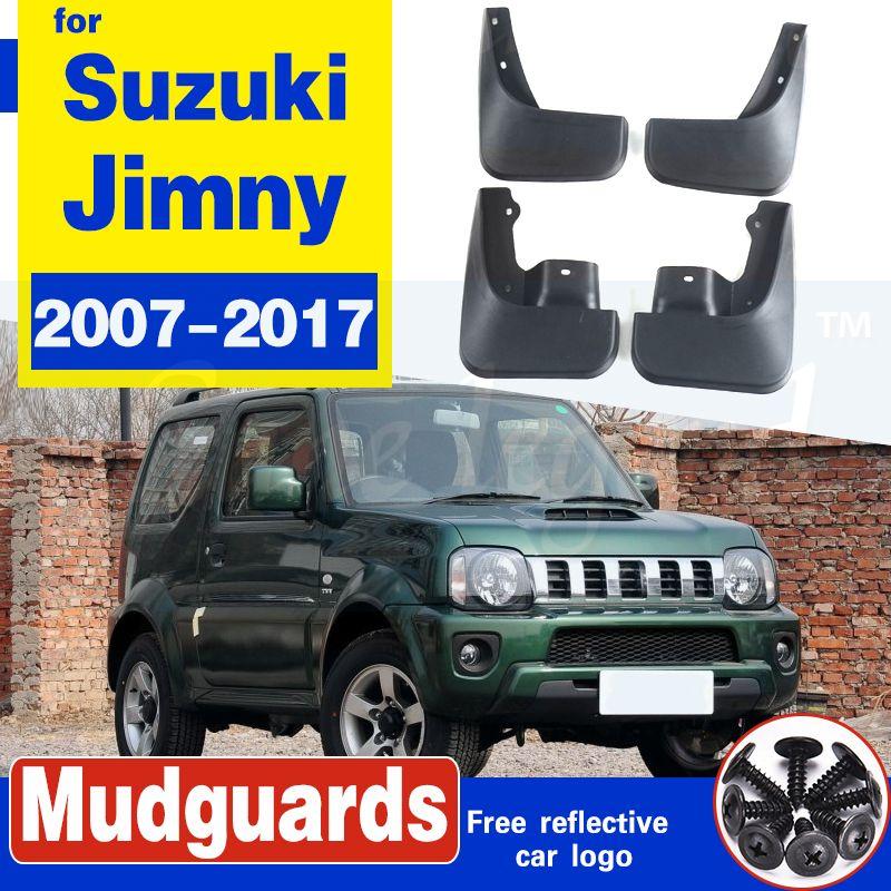 Garde-boue pour Suzuki Jimny 2007-2017 Guards de boue de boue ABS Variture de voiture PROTECTION DÉCOPORATION ACCESSOIRES ACCESSOIRES DE VOITURE